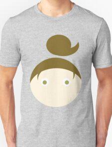 Brown Hair Hazel Eyed Girl Unisex T-Shirt