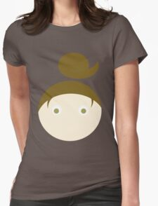Brown Hair Hazel Eyed Girl Womens Fitted T-Shirt