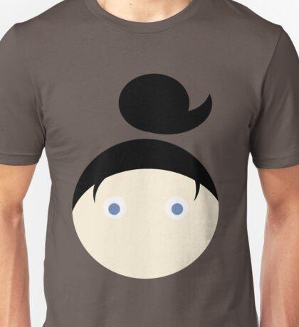 Black Hair Blue Eyed Girl Unisex T-Shirt