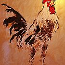 Rooster'... by Valerie Anne Kelly