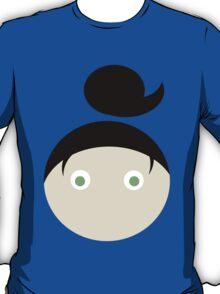 Black Hair Green Eyed Girl T-Shirt