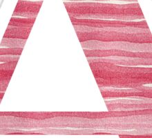 Letter A Red Watercolor Stripes Initial Monogram Sticker