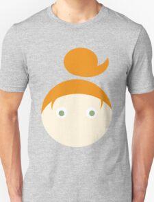 Red Hair Green Eyed Girl Unisex T-Shirt