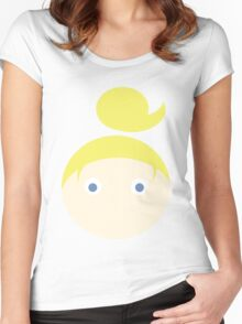 Blonde Hair Blue Eyed Girl Women's Fitted Scoop T-Shirt