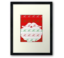 Ho Ho Ho Merry Christmas from Santa Framed Print