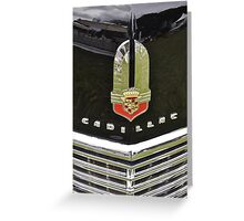 Cadillac 62 Series Convertible Sedan grill (1941) Greeting Card
