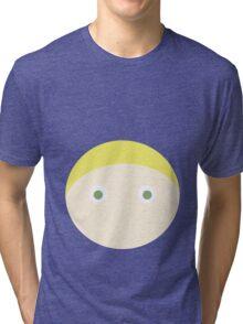 Blonde Hair Green Eyed Boy Tri-blend T-Shirt
