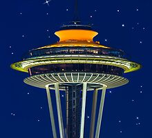 The Space Needle in Galaxy Gold by Jim Stiles