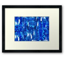 Abstract Composition / Abstract Lines in Blue Framed Print