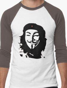 Che & V Men's Baseball ¾ T-Shirt