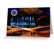 Phantom City on the 13th Moon of Gernia Greeting Card