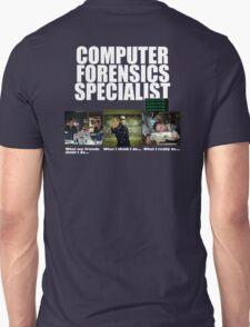 """Computer Forensics Specialist"" T shirt T-Shirt"