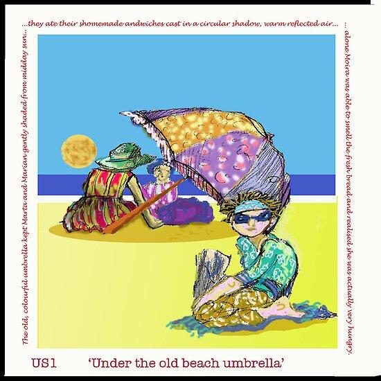 Cosmopolitan: 'Under the Old Beach Umbrella' by artbluemuffin