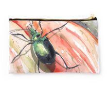 Green Carab Beetle Studio Pouch