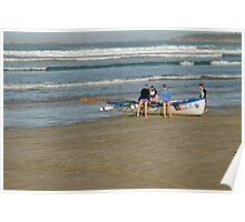 Surf row boats Poster