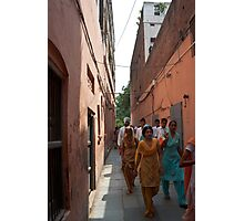 Visitors emerging from the Jallianwala Memorial Photographic Print