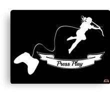 Press Play Canvas Print