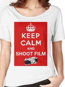 Keep Calm and Shoot Film Women's Relaxed Fit T-Shirt