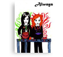 Severus Snape & Lily Evans ~ Always. Canvas Print