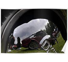 DKW F91 Cabrio Karmann hubcap (1954) Poster