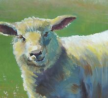 Cheeky Sheep on a hazy sunny day painting by MikeJory