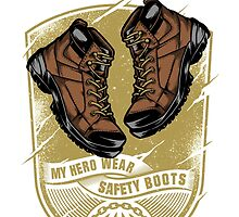 My Hero Wear Safety Boots by damnoverload