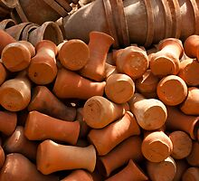 Lots of pots inside the Garden of 5 Senses by ashishagarwal74