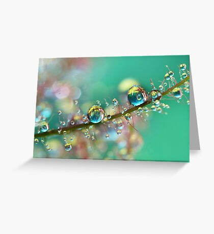 Smokey Rainbow Drops Greeting Card