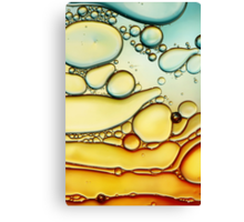 Fire & Ice Bubble Abstract Canvas Print