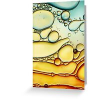Fire & Ice Bubble Abstract Greeting Card