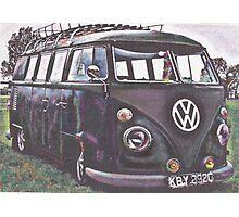Battle Bus Photographic Print