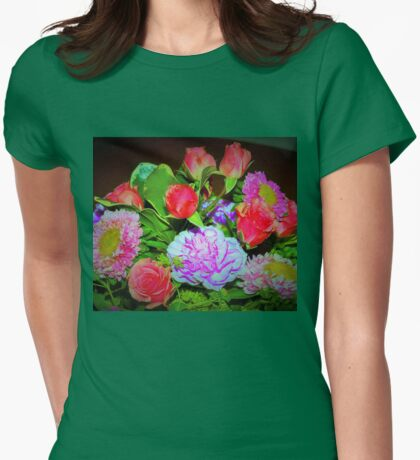Rose combo delight Womens Fitted T-Shirt