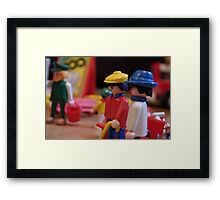 Playmobile zoo Framed Print