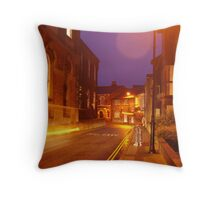 Hitchhiker at twilight Throw Pillow