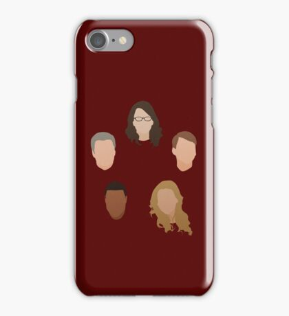 30 Rock Silhouettes  iPhone Case/Skin