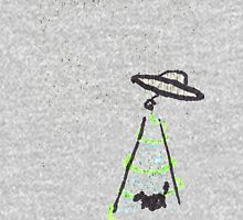 Ufo with Cattle in Tractor-beam  Mens V-Neck T-Shirt