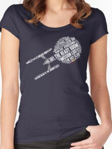 Trek.fm Word Cloud (Dark) Women's Fitted Scoop T-Shirt