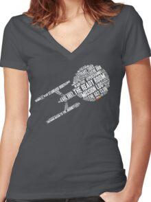 Trek.fm Word Cloud (Dark) Women's Fitted V-Neck T-Shirt