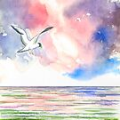 SEAGULL AT THE NORTH SEA by RainbowArt