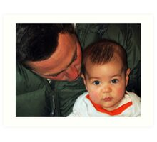 """Me & My Daddy......"" Art Print"