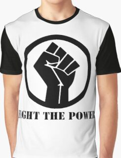 FIGHT THE POWER BLACK POWER RAISED FIST Graphic T-Shirt