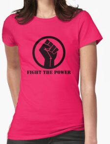 FIGHT THE POWER BLACK POWER RAISED FIST Womens Fitted T-Shirt