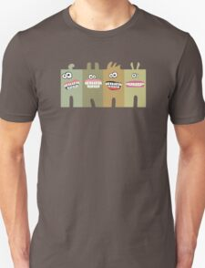 Funny green smiling teeth monsters 2 T-Shirt