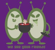 Green aliens martians cooking people by BigMRanch