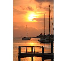 Ocracoke Island Harbor Sunset Photographic Print