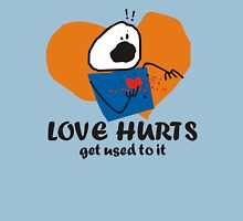 funny love hurts get used to it stick figure Womens Fitted T-Shirt