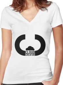 Cloud Creator. Women's Fitted V-Neck T-Shirt