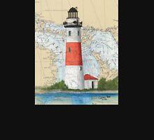Middle Island Lighthouse MI Nautical Chart Peek Unisex T-Shirt