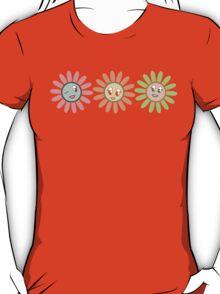 Cute, pretty retro girl flowers T-Shirt