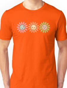 Cute, pretty retro girl flowers Unisex T-Shirt